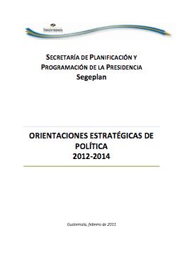 Orientaciones estratégicas de política 2012-2014