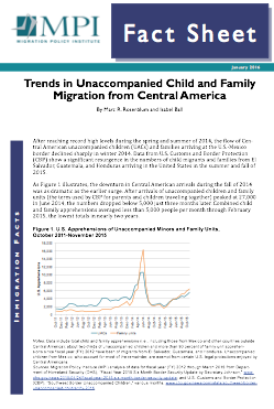 Trends in Unaccompanied Child and Family Migration from Central America