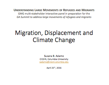 Migration, displacement and climate change