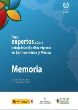Foro de expertos sobre trabajo infantil y niñez migrante en Centroamérica y México